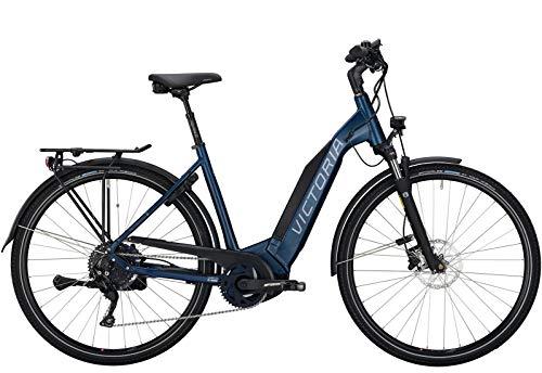 Victoria E-Trekking 10.8 Wave E-Bike 2020 Pedelec Damen Herren Blau-Matt (28 Zoll - 51cm)