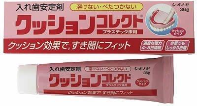 Shionogi Japan CUSHION CORRECT Denture Adhesive 36g