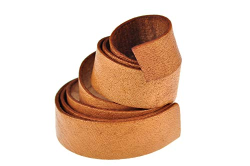 esnado Lederband, Lederriemen Flach. 1 Meter. Breite/Farbe: wählbar (Breite: 15 mm, Walnuss)