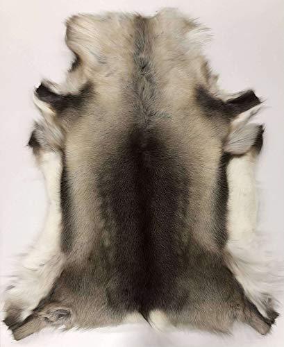 By Max - Tappeto in pelle di renna, 162, colore: grigio/marrone, dimensioni: 120 x 105 cm