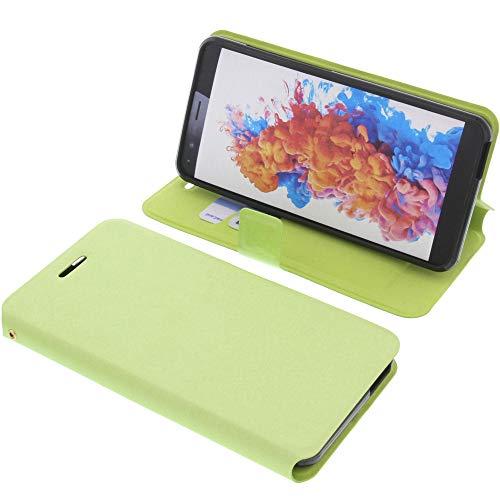 foto-kontor Tasche für TP-Link Neffos C7 Lite Book Style grün Schutz Hülle Buch