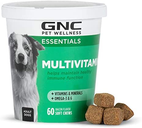 GNC for Pets Essentials Dog Multivitamin Soft Chews 60 ct Salmon Oil Dog Supplement Immune Booster product image