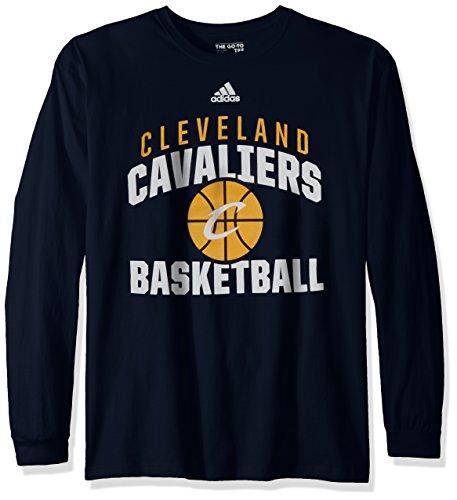 Adidas Rep Big Go-To - Camiseta de manga larga para hombre con logo de equipo de baloncesto de la NBA. - 3599A 7XDV, S, Marino