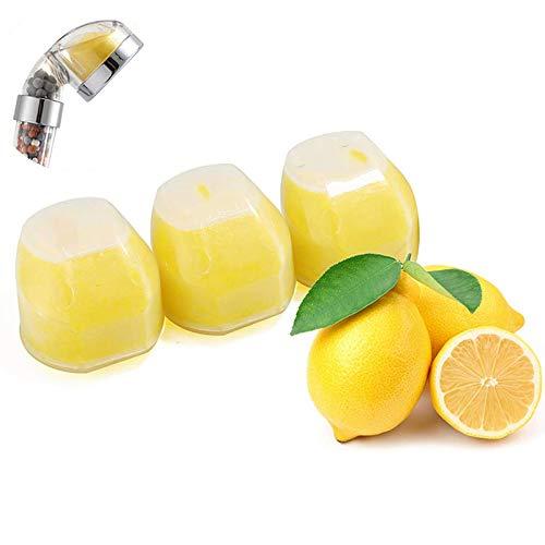 OurLeeme Cabezal de ducha iónico, aumenta la presión mientras se ahorra agua Limón Vitamina C Juego de filtros Cabezal de ducha de mano (Filtrar)