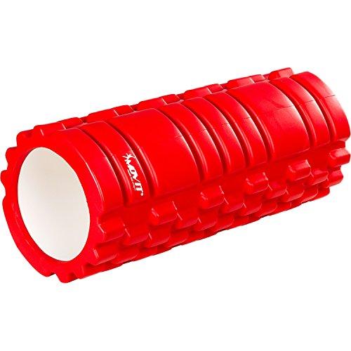 Movit Foam Roller »Fascia« Rullo di Massaggio Muscoli Trigger Point Privo di Sostanze nocive, TÜV SÜD Testato Taglia: 33x14 cm Colori Rosso