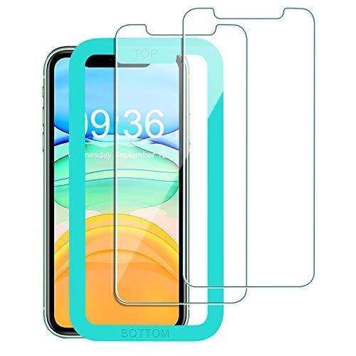 Babacom Kompatibel mit iPhone 11/ XR Panzerglas Schutzfolie, [Ultra Transparent] [9H Festigkeit] [Anti-Kratzen] Bildschirmschutzfolie mit Ausrichtungsrahmen kompatibel mit iPhone 11 6,1-Zoll(2 Stücke)