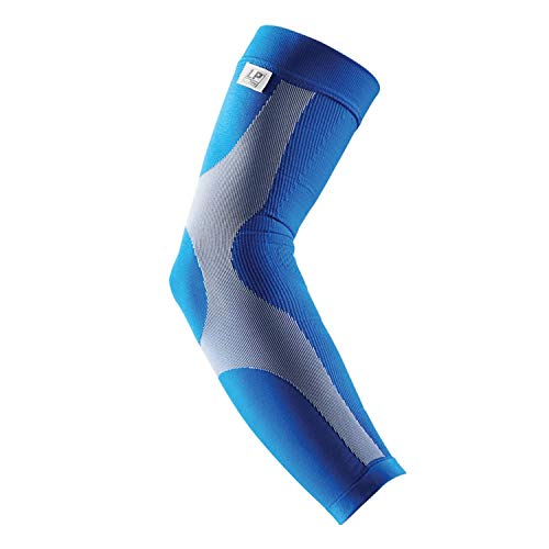 LP Support 251 Power Sleeve Kompressions-Armbandage – Armsleeve – Ellenbogen-Bandage – Armstulpe – Shooter-Sleeve, Größe:L, Farbe:blau - 2
