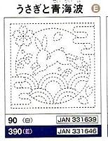 オリムパス 刺し子 キット 花ふきん 白 その1 90うさぎと青海波