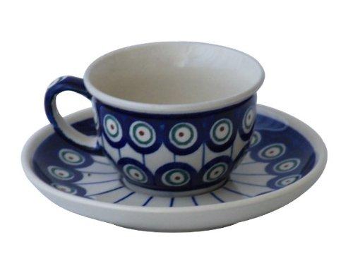 Original Bunzlauer Keramik Espressotasse mit Untertasse 0,11 Liter im Dekor 8
