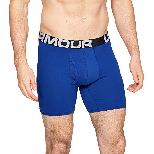 Under Armour Herren schnelltrocknende Boxershorts, 6inch - 3 Pack, Mehrfarbig (Navy,blau and Grey), X-Large