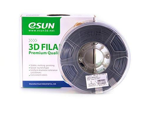 eSUN 1.75mm Gray ABS 3D Printer Filament 1kg Spool (2.2lbs), Gray