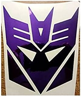 Transformers Chrome Purple Decepticon Logo Vinyl Decal