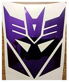 Transformers Chrome Purple Decepticon Logo Vinyl Decal