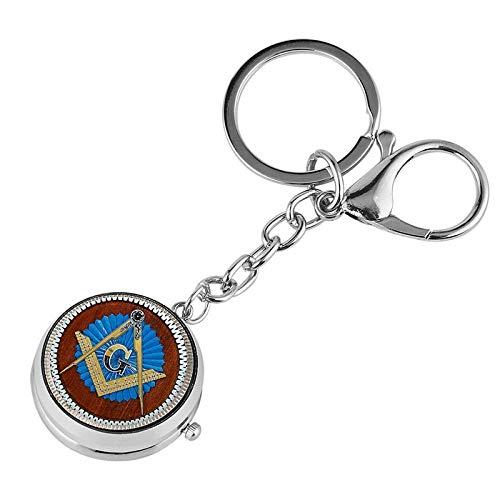 LEYUANA Schlüsselbunduhr, Mann Frau Schlüsselanhänger Tasche Schlüsselhalter Hängende Uhr Geschenke für Freunde Freimaurer