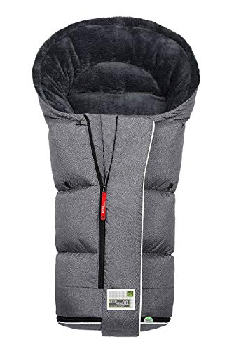 Odenwälder BabyNest Fußsack Keep Heat XL fashion new woven titan 12464-1079