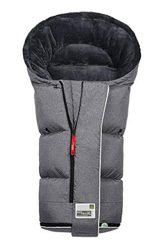 Odenwälder BabyNest Fußsack Keep Heat XL fashion new woven titan 12464-1079