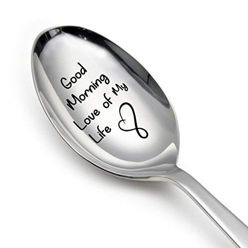 Cucchiaio regalo (Good Morning Love of My Life-Inciso-Regalo d'amore per fidanzata-amore-regalo per marito-amore regali per moglie)
