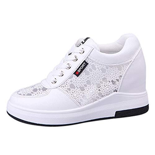 HOUMENGO Mujer Cuñas Zapatos De PU Zapatos Casuales