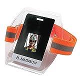 Ergodyne - 19951 Squids 3386HV High Visibility Arm Band ID/Badge Holder Hi-vis Orange