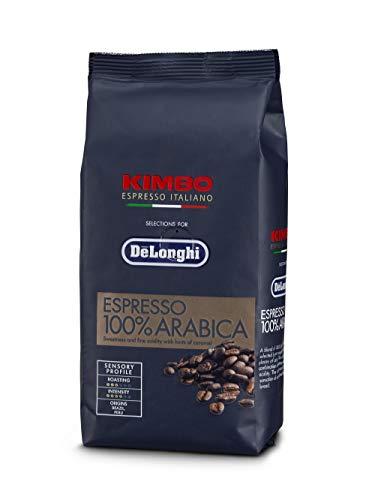 De'Longhi Kimbo Arabica caffè 100% Chicchi per Macchine da Caffé Automatiche, 250, Plastica