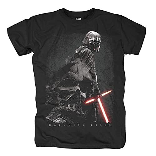 Star Wars Herren T-Shirt Darkness Rises Kylo Ren Baumwolle schwarz - S