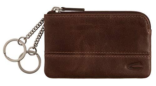 camel active, Schlüsseletui, Herren, Schlüsselmäppchen, Schlüsselring mit Karabiner, Schlüsselanhänger, Tokyo, Braun