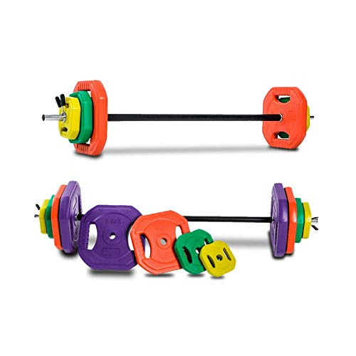 Set de Body Pump con Barra y Discos (20 kg Peso Total)