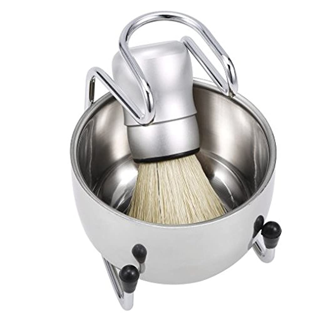 偏心一月放置3 in 1 Men's Shaving Tools Set Well Polished Shaving Brush Soap Bowl Stand Holder Badger Hair Male Face Cleaning
