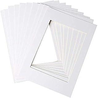 nuosen Lot de 10 cadres photo blancs pour photos de 15,2 x 20,3 cm (A4)