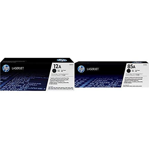 HP 12A (Q2612A) Schwarz Original Toner für HP Laserjet 1010, 1020, 1022, 3015, 3050, 3055 & 85A (CE285A) Schwarz Original Toner für HP Laserjet Pro P1102, P1106, M1132 MFP, M1212nf MFP, M1217nfw MFP