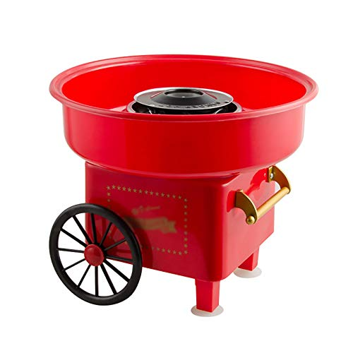 Lwieui Máquinas de algodón de azúcar Máquina De Algodón De Algodón De Children De Tipo Hogar De Cochecito para Niños De Lujo Máquina De Caramelo De Algodón De Lujo Automático
