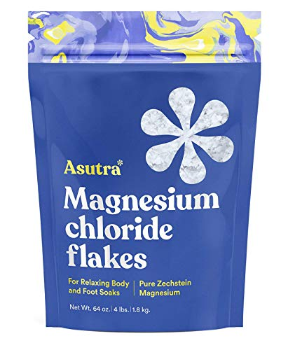 ASUTRA Magnesium Chloride Bath Flakes, 4 lbs | for Foot...