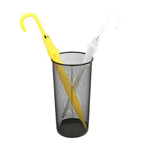 Mind Reader Umbrella Rack Stand For Canes Walking Sticks Umbrellas, Metal Mesh, Black