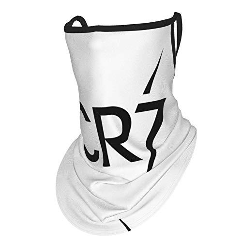 Cr-7 Cris-tia-no Ro-Naldo - Funda para bufanda de cuello para la cara, bandanas para pesca, motociclismo con bucles para orejas