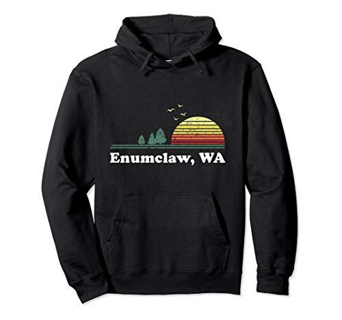 Vintage Enumclaw, Washington Home Souvenir Print Pullover Hoodie