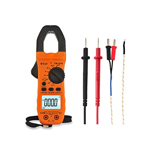 KAIBINY Multímetro Instrumento de precisión Pinzas amperimétricas CM-2016 de Mano del multímetro de AC/DC voltios de Corriente Voltaje Ohm NCV Temperatura probador de la Resistencia del amperímetro
