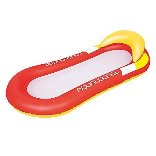 Poltrona galleggiante con poggiatesta, lettino gonfiabile, sdraio, con rete, materassino gonfiabile, per adulti e bambini