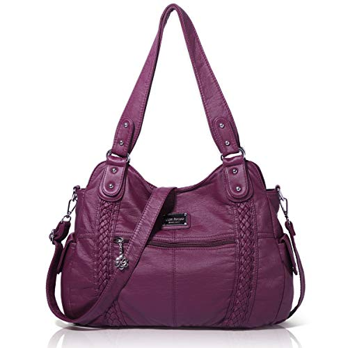 Angel Barcelo Roomy Fashion Hobo Damenhandtaschen, Damen Geldbörse, Umhängetaschen, Umhängetasche Tote, Gewaschene Ledertasche