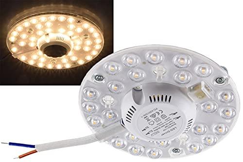 Module LED anneau pour plafonnier avec support magnétique 12 W Ø 125 1080 lm 230 V Blanc chaud