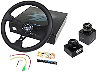 92-95 Honda Civic DX EX VX LX Si EG NRG350MM Steering Wheel + Hub + Quick Release