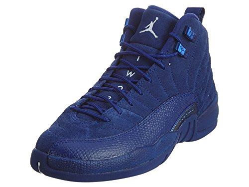 Nike Nike Jungen 153265-400 Basketballschuhe, Tiefes Königsblau Blau Weiß Metallic Silber, 35.5 EU