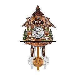 Navyoom Cuckoo Clock Black Forest Antique Clock Quartz Pendulum Wall Clock Home Decor, Large German Cuckoo Clock