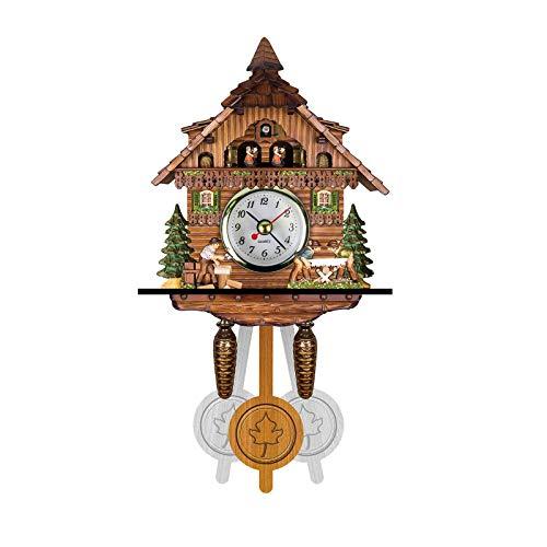 Gaoqi Reloj, Cuco Cuco Reloj de Pared Timbre Reloj Despertador Reloj Retro Reloj de Madera para Sala de Estar