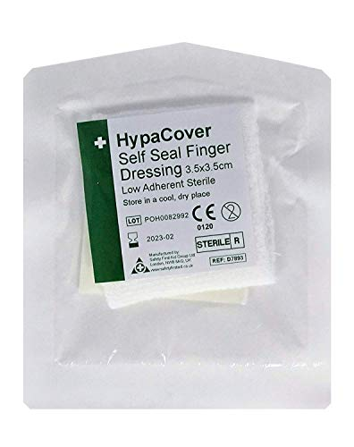 HypaCover Finger Dressing Wrap - Adhesive Fixing (Pack of 12)