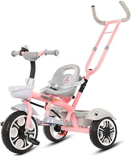 Xiaoyue Fahrräder for Kinder Dreirad Baby-Fahrrad-1-2-3-6 Jahre alte Kinderwagen Fahrrad Kinder (Farbe: Blau, Größe: 86x48x57cm) lalay (Color : Pink, Size : 86x48x57cm)
