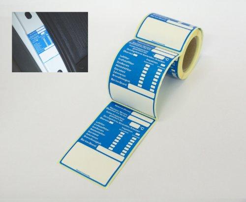 Sticker-Verlag Kundendienst Aufkleber Serviceaufkleber Auswahl: (100 Stück Inspektionsaufkleber)