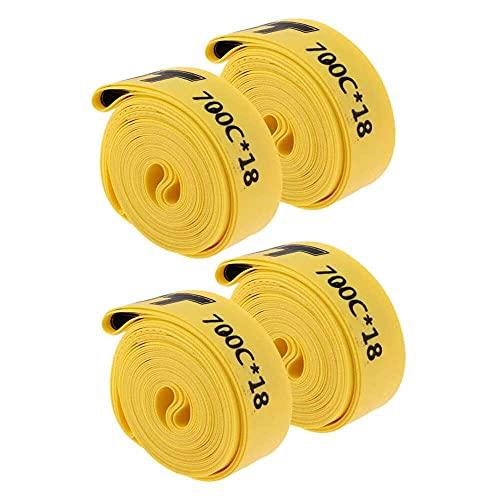 junmo shop 2 pares de tiras de llanta de bicicleta compatibles con 700 c Road Bike/Fixie, tubo interior de engranaje fijo PVC anti pinchazos protector almohadilla, juego de 4