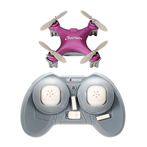 Metermall Cheerson CX-10SE Mini Dron Quad Hubschrauber Tasche Drone Fernbedienung Kid Spielzeug 4CH 3D Flips RC NaNo Quadcopter Hubschrauber RTF Rosa