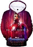 PANOZON Sudadera Hombre Impresión 3D de Vengadores Endgame para Fanes de Película Avengers Superhéro...