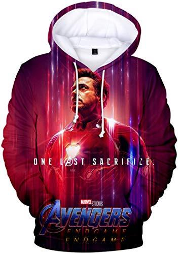PANOZON Uomo Felpe con Cappuccio 3D Stampato Avengers Endgame Film Eroe Immagine di Raccolta (S, A squadra3887-1)
